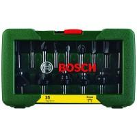 15 dalių frezų komplektas Bosch 8mm