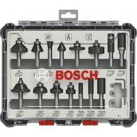 "Frezų medienai rinkinys Bosch 1/4"" 15vnt"