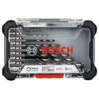 Grąžtų komplektas metalui Bosch HSS 2-10 mm 8 vnt.